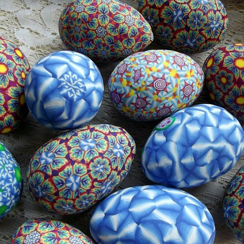 A Polymer Clay egg shakers